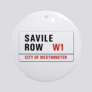 Savile Row, London - UK Ornament (Round)
