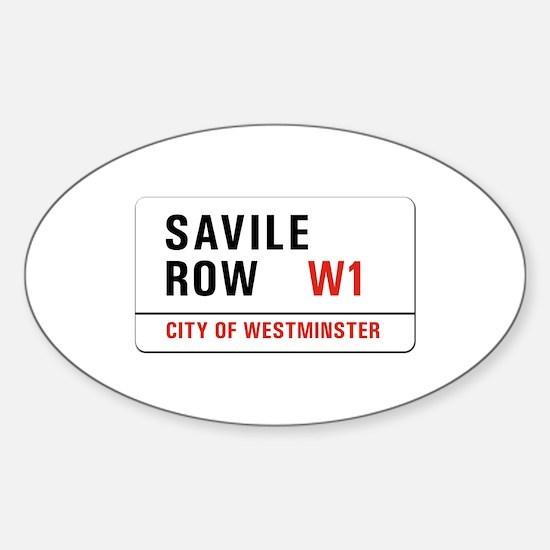 Savile Row, London - UK Oval Decal