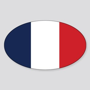 France Flag Sticker (Oval)