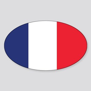 France Naval Ensign Sticker (Oval)