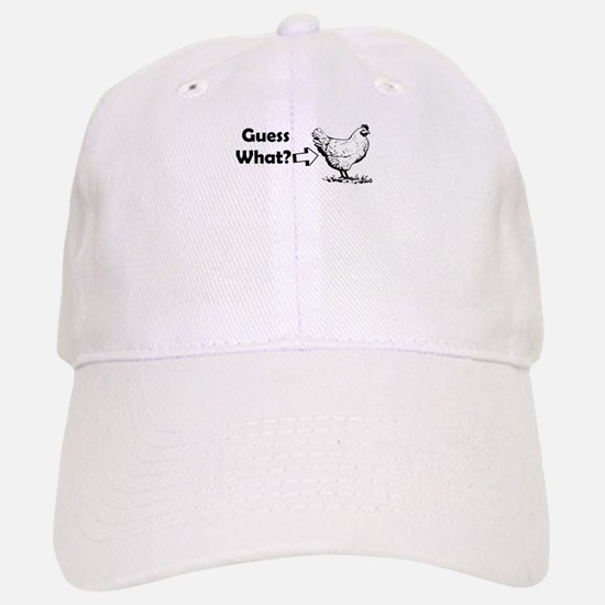 GUESS WHAT CHICKEN BUTT Baseball Baseball Baseball Cap