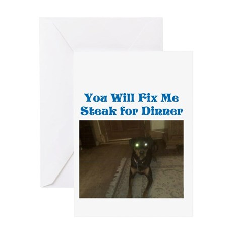 Steak Hypnosis Greeting Card