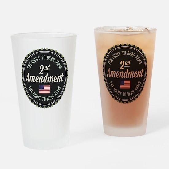 Second Amendment Drinking Glass