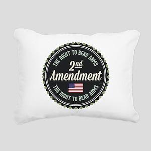 Second Amendment Rectangular Canvas Pillow