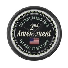 Second Amendment Large Wall Clock