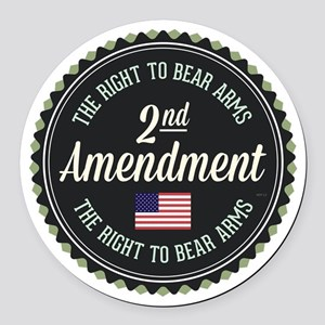 Second Amendment Round Car Magnet