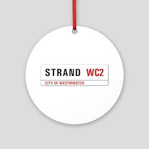 Strand, London - UK Ornament (Round)