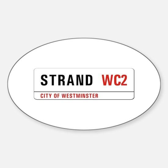 Strand, London - UK Oval Decal