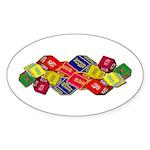 Number One Numero Uno Sticker (Oval 10 pk)