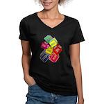 Number One Numero Uno Women's V-Neck Dark T-Shirt