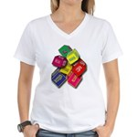 Number One Numero Uno Women's V-Neck T-Shirt