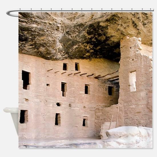 Cute Cliff dwellings Shower Curtain