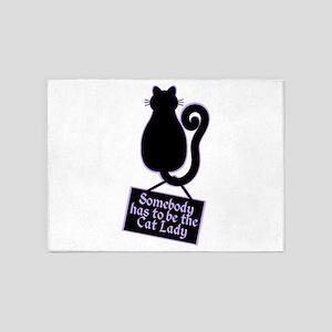 Cat Lady 5'x7'Area Rug