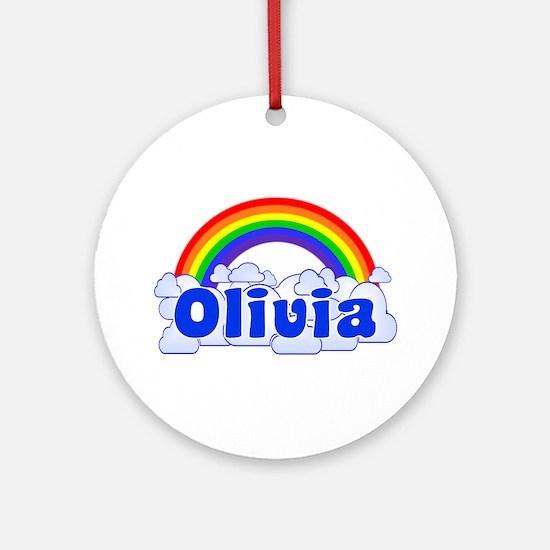 """Olivia Rainbow"" Ornament (Round)"
