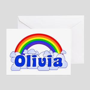 """Olivia Rainbow"" Greeting Cards (Pk of 10)"