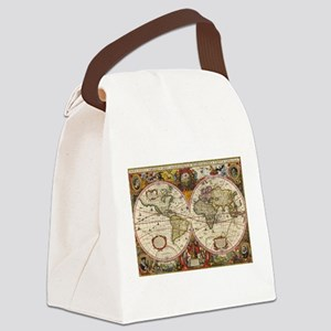 World Map 1630 Canvas Lunch Bag