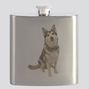 Alaskan Husky Flask