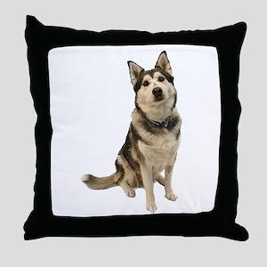 Alaskan Husky Throw Pillow