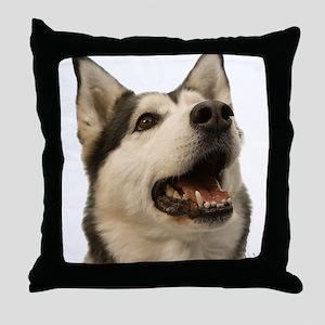 The Alaskan Husky Throw Pillow