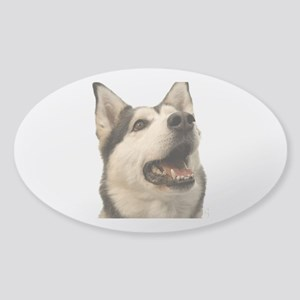 The Alaskan Husky Sticker (Oval)