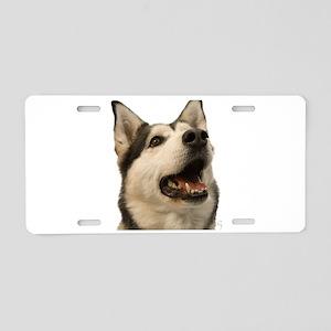 The Alaskan Husky Aluminum License Plate