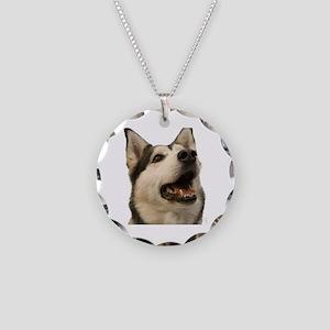 The Alaskan Husky Necklace Circle Charm