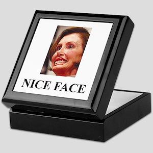 Nancy Pelosi - Nice Face Keepsake Box