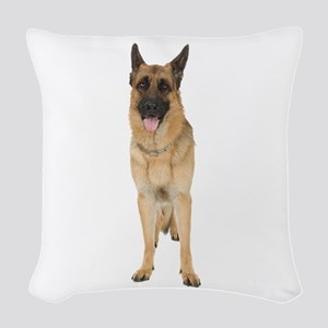 German Shepherd Woven Throw Pillow