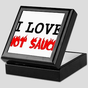 I LOVE HOT SAUCE 2 Keepsake Box