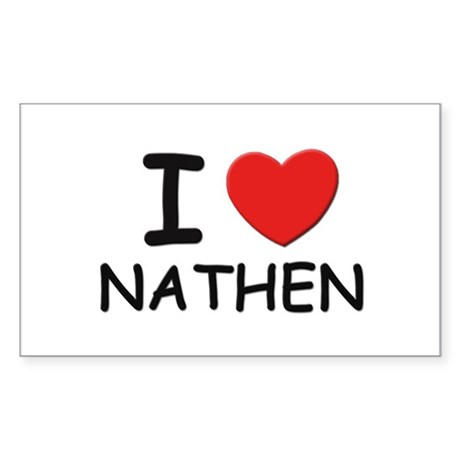 I love Nathen Rectangle Sticker
