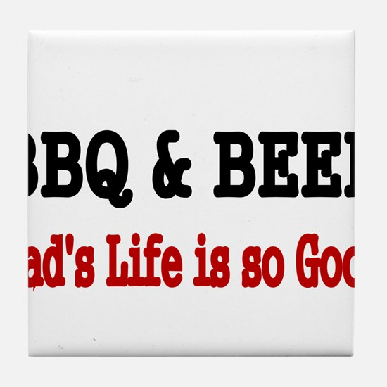 BBQ BEER Tile Coaster