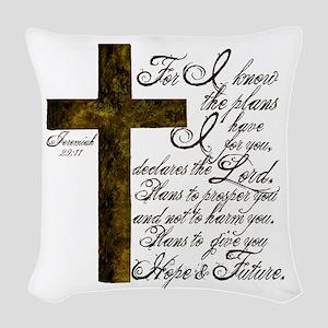 Plan of God Jeremiah 29:11 Woven Throw Pillow