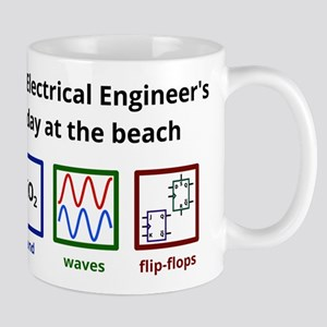 An Electrical Engineers day at the beach Mug