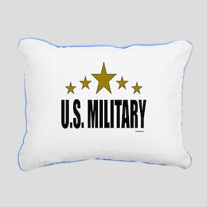 U.S. Military Rectangular Canvas Pillow