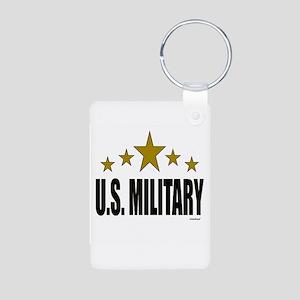 U.S. Military Aluminum Photo Keychain