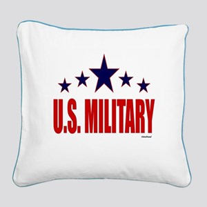 U.S. Military Square Canvas Pillow