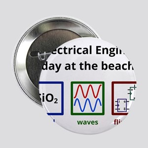 "An Electrical Engineer's day at the beach 2.25"" Bu"