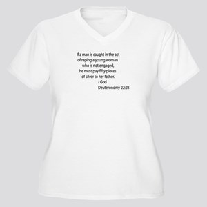 Deuteronomy 22.28 Women's Plus Size V-Neck T-Shirt
