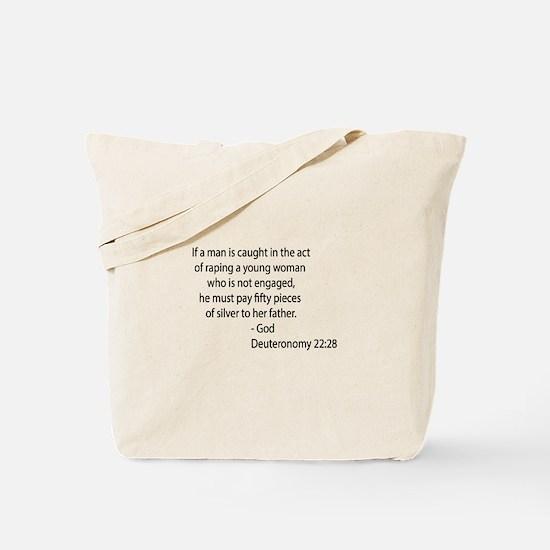 Deuteronomy 22.28 Tote Bag
