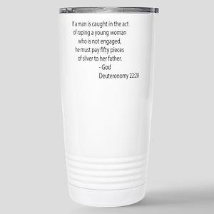 Deuteronomy 22.28 Stainless Steel Travel Mug