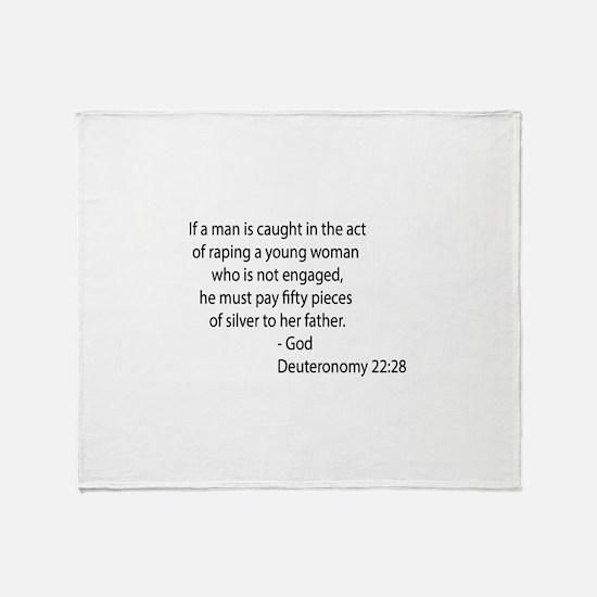 Deuteronomy 22.28 Throw Blanket