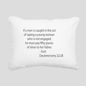 Deuteronomy 22.28 Rectangular Canvas Pillow