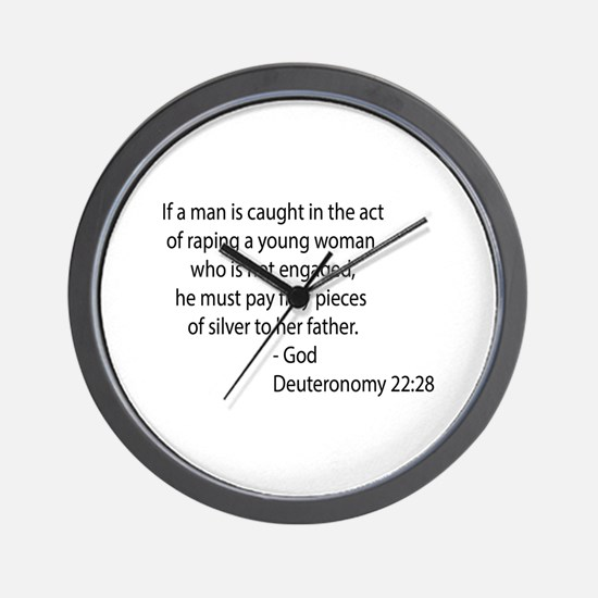 Deuteronomy 22.28 Wall Clock
