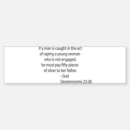 Deuteronomy 22.28 Sticker (Bumper)