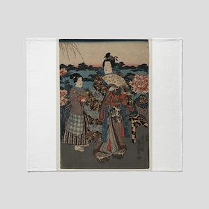 Kunisada Utagawa - Enjoying a Garden of Peonies 2