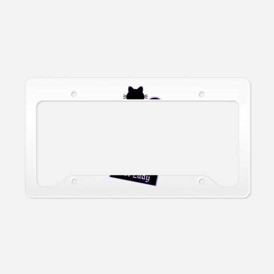 Cat Lady License Plate Holder