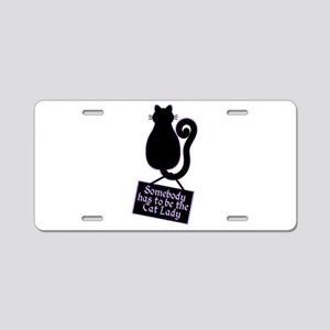 Cat Lady Aluminum License Plate