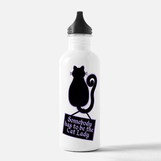 Cat Lady Water Bottle