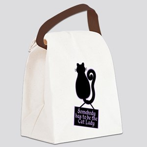 Cat Lady Canvas Lunch Bag