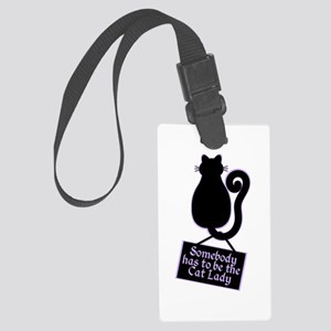 Cat Lady Luggage Tag